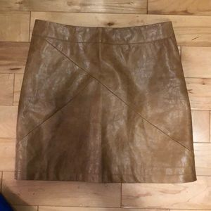 Dresses & Skirts - Tan leather skirt